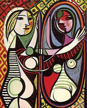 Picasso-woman-in-mirror